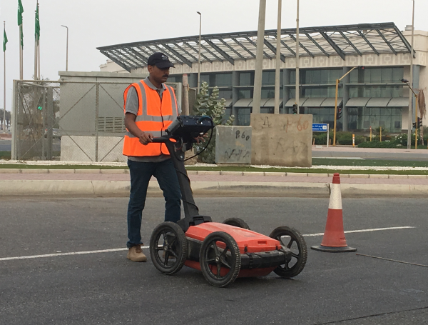 On-site ground penetrating radar device